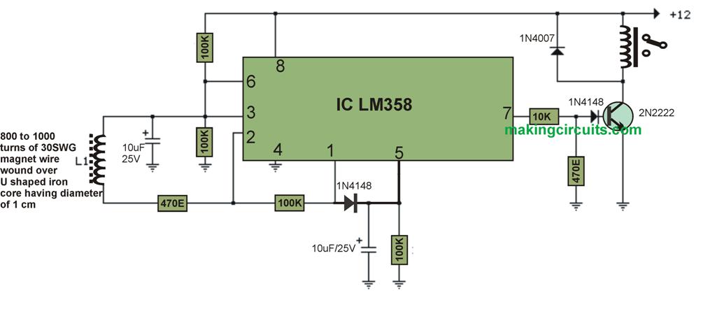 AC mains line current circuit