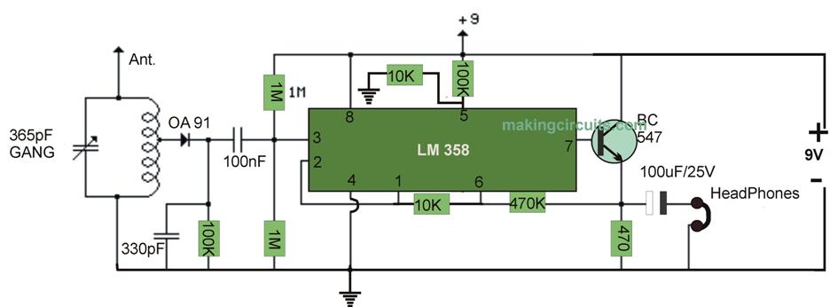 simple powerful radio circuit