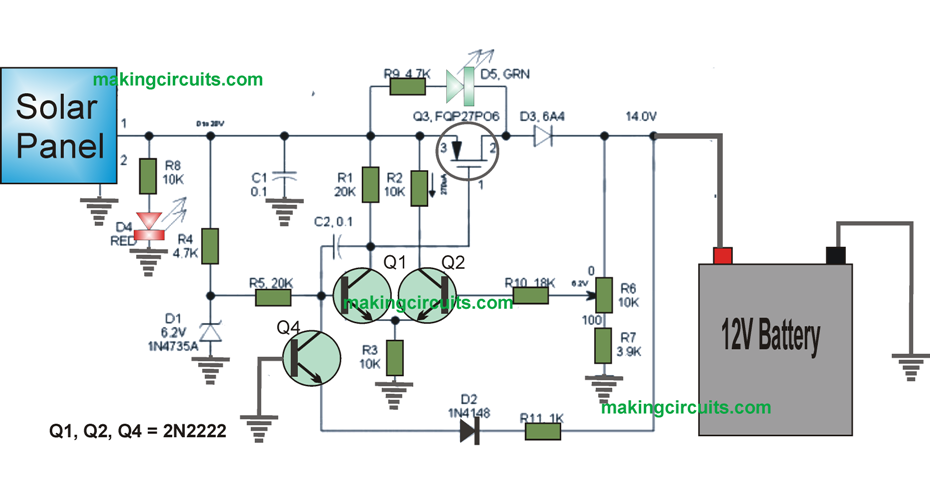 Battery Charging Circuit Schematic on battery charger circuit using scr