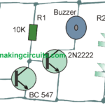 Simple Solar Plant Watering Alarm Circuit