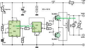 Simple 12V to 220V Inverter Circuit for Newcomers