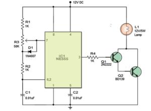 PWM Lamp Dimmer using IC 555