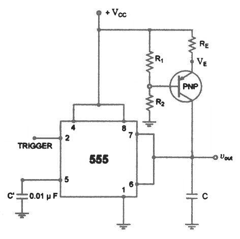 555 Timer Ramp Generator on