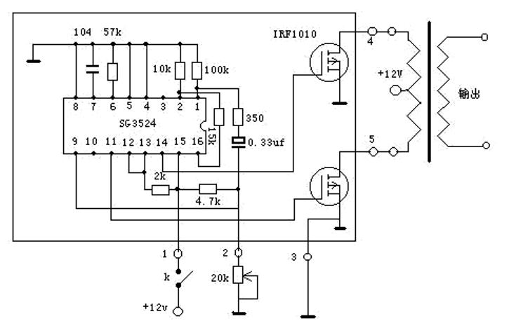 Inverter Circuit Using IC SG3524