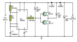 Voltage Double Circuit using NE555