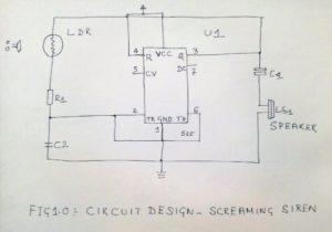 Screaming Alarm Circuit using IC 555