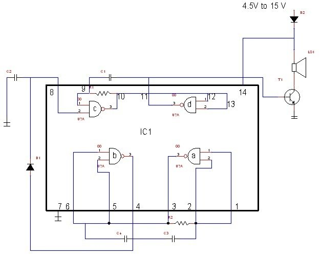 Groovy Simple Electronic Siren Circuit Wiring Digital Resources Antuskbiperorg