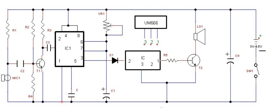 sound activated door bell circuit
