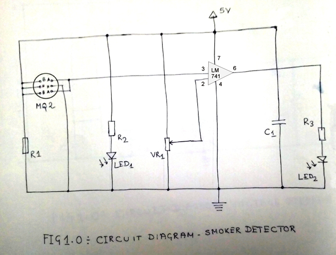 Simple Smoke Detector Circuit