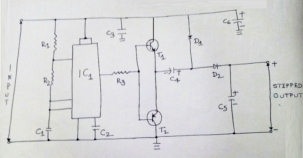 voltage stepper circuit