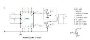Simple 100 watt to 500 watt Inverter Circuit
