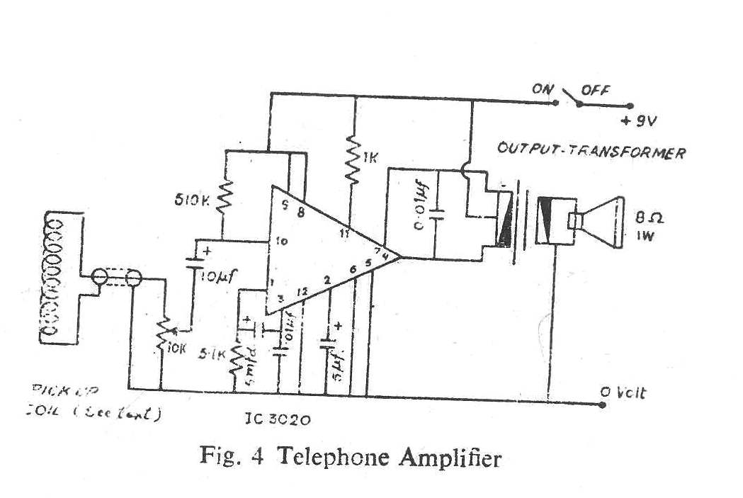 Simple Telephone Amplifier Circuit