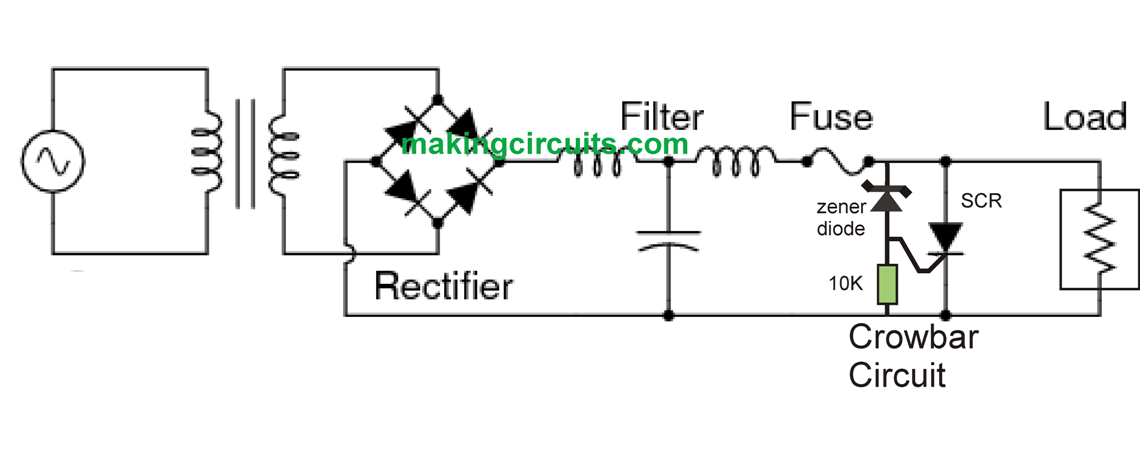 scr crowbar circuit