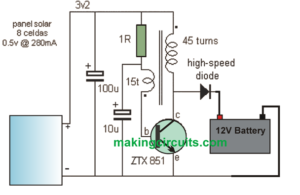 Simple 12V Solar Charger Circuit with Boost Converter