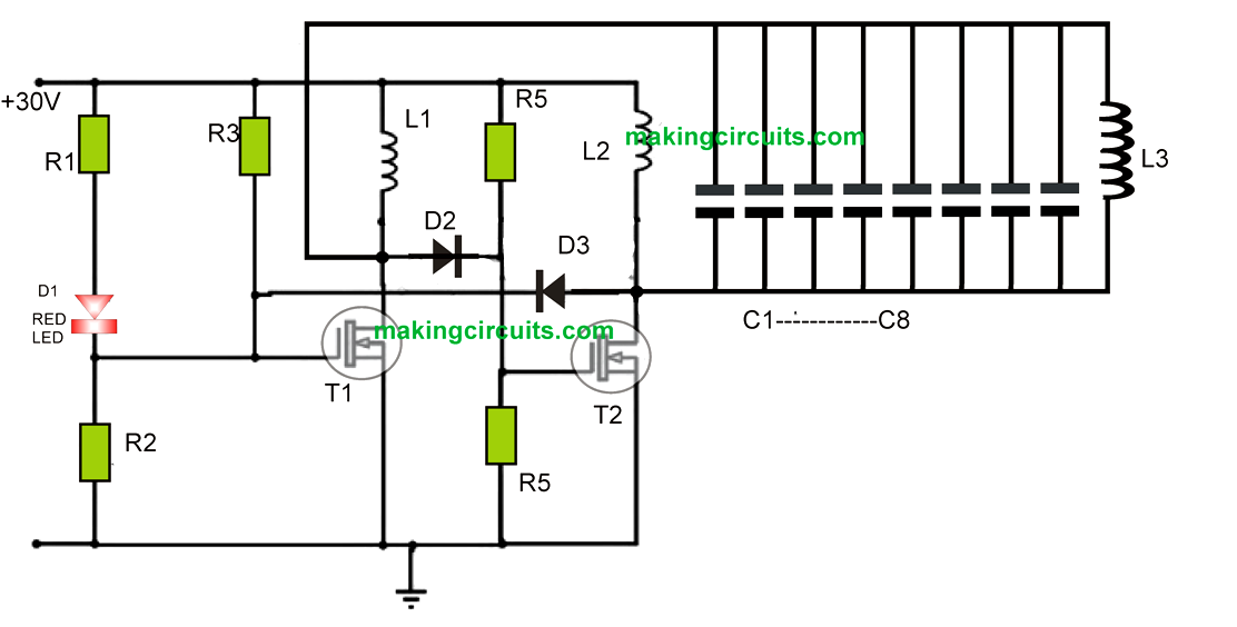 Wireless Cellphone Battery Charger Circuit
