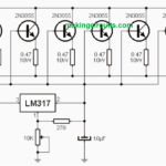 High Current LM317 Variable Power Supply Circuit