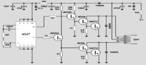 12V 200 watt Inverter Circuit