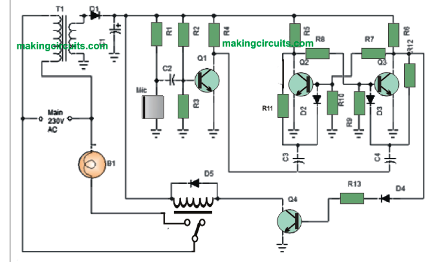 Simple Clap Switch    Circuit    using Transistors  Tested