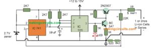 IC 555 Li-Ion Battery Charger Circuit