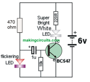 simple strobe light circuit