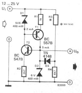 Make Stabilized Zener Diode Using Transistor