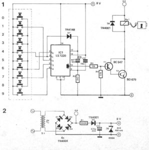 Door Lock Circuit using Digital Code