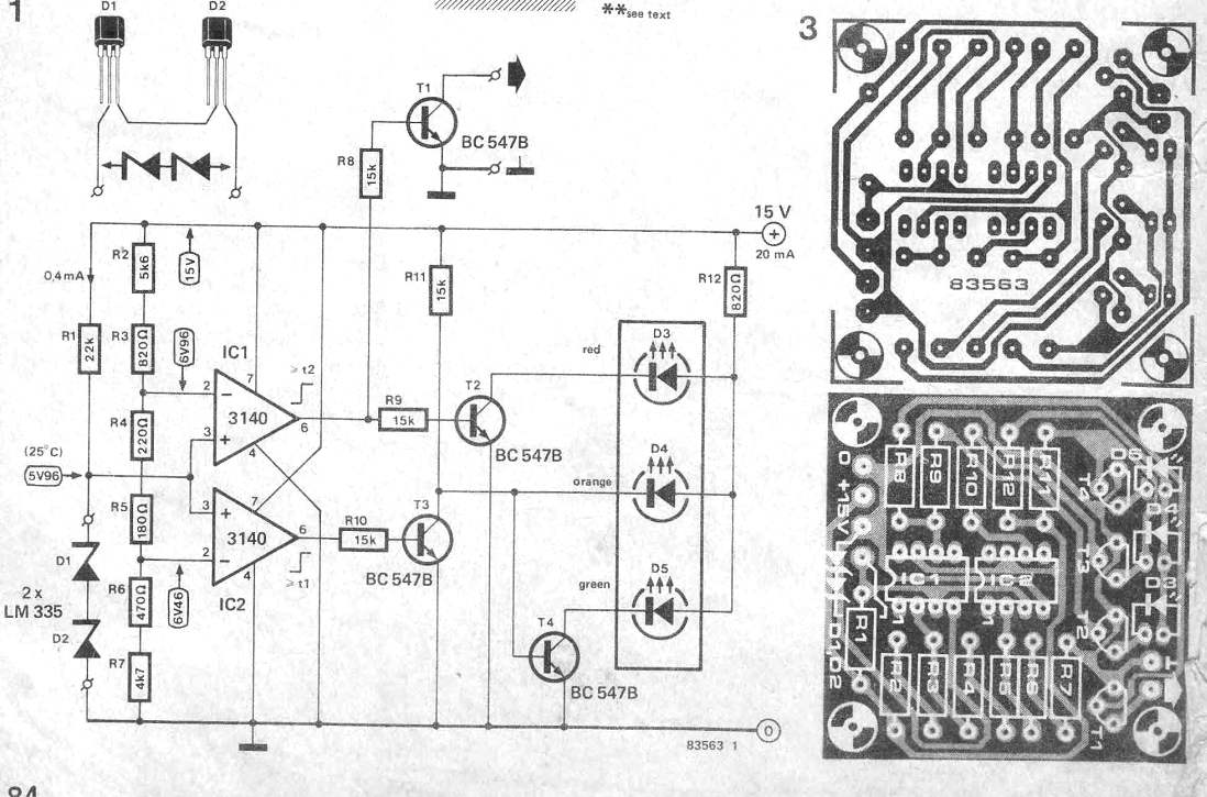 Thermal Indicator Circuit for Heatsinks