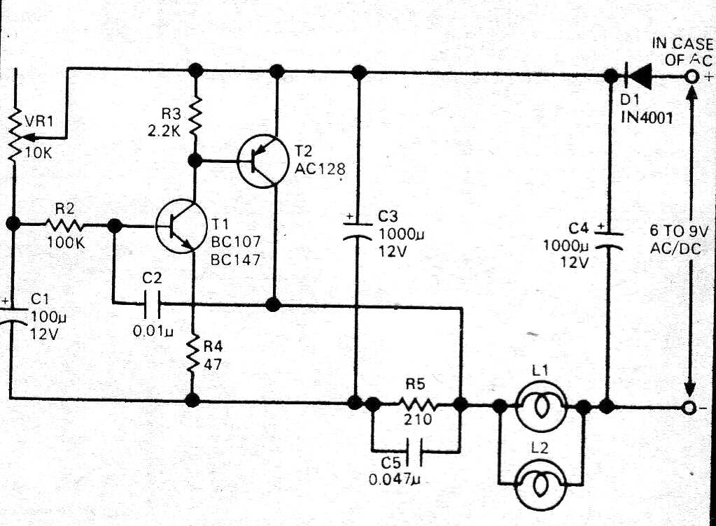 car blown tail lamp indicator circuit