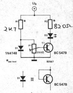 Simple Temperature Indicator using BC547 Transistor