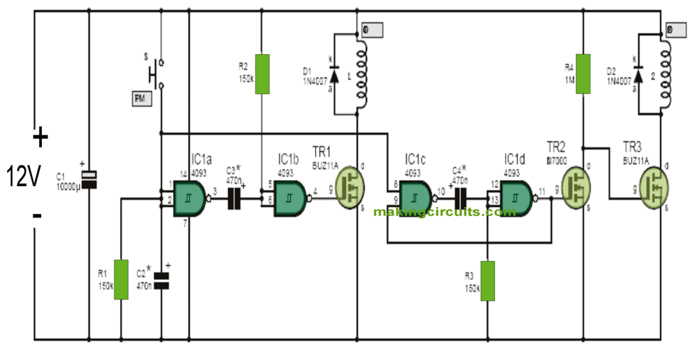 Simple Electronic Gong Circuit