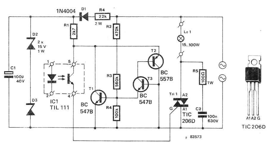 Solid State Relay SSR Circuit Using Triac - Solid state relay using triac