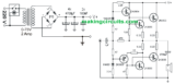 Simple 100 Watt Amplifier Circuit using 2N3055 Transistors