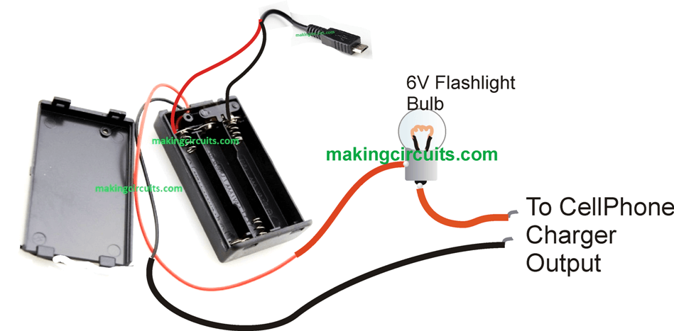 Cellphone Power Bank Circuit you can Make at Home