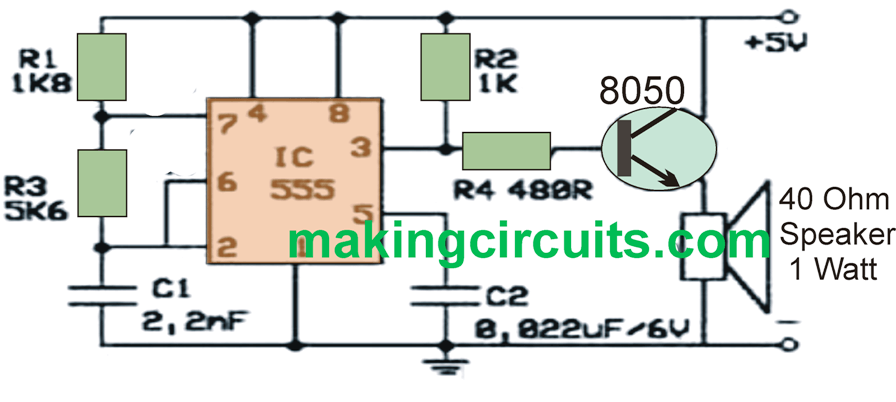 Simple Rat Repellent Circuit