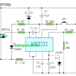 220V Light Dimmer Circuit using Push Button Control