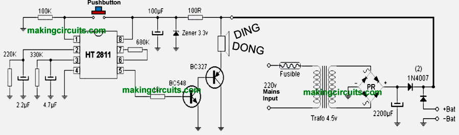 ding dong bell circuit