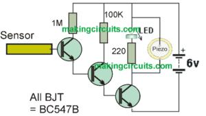 Non-Contact AC Mains Tester Circuit