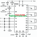 Single chip Quadraphonic Amplifier Circuit – For Making Home theater Systems
