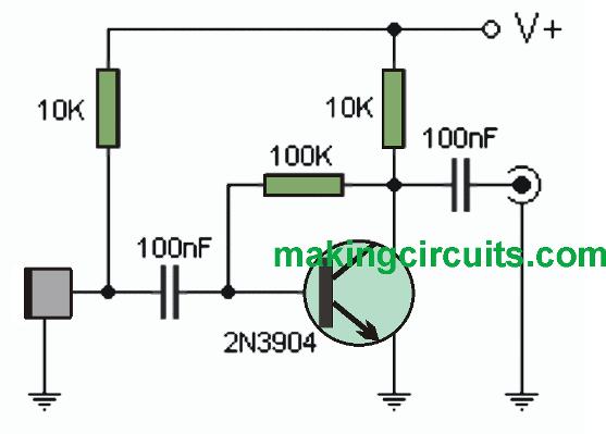 simple MIC amplifier circuit