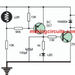Automatic Day Night Triggered Car Headlamp Circuit