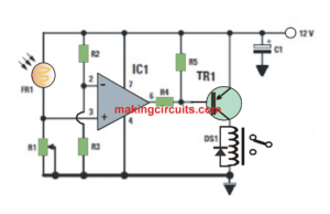 Automatic Darkness Activated Porch Light Circuit