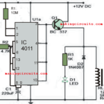 Simple 1 minute to 60 minutes Timer Circuit using IC 4011