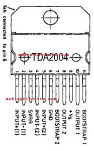 Simple Stereo Amplifier Circuit using IC TDA2004