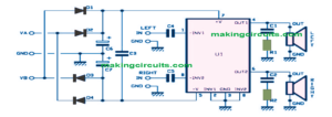 30 Watt Stereo Amplifier Circuit Using IC TDA1521