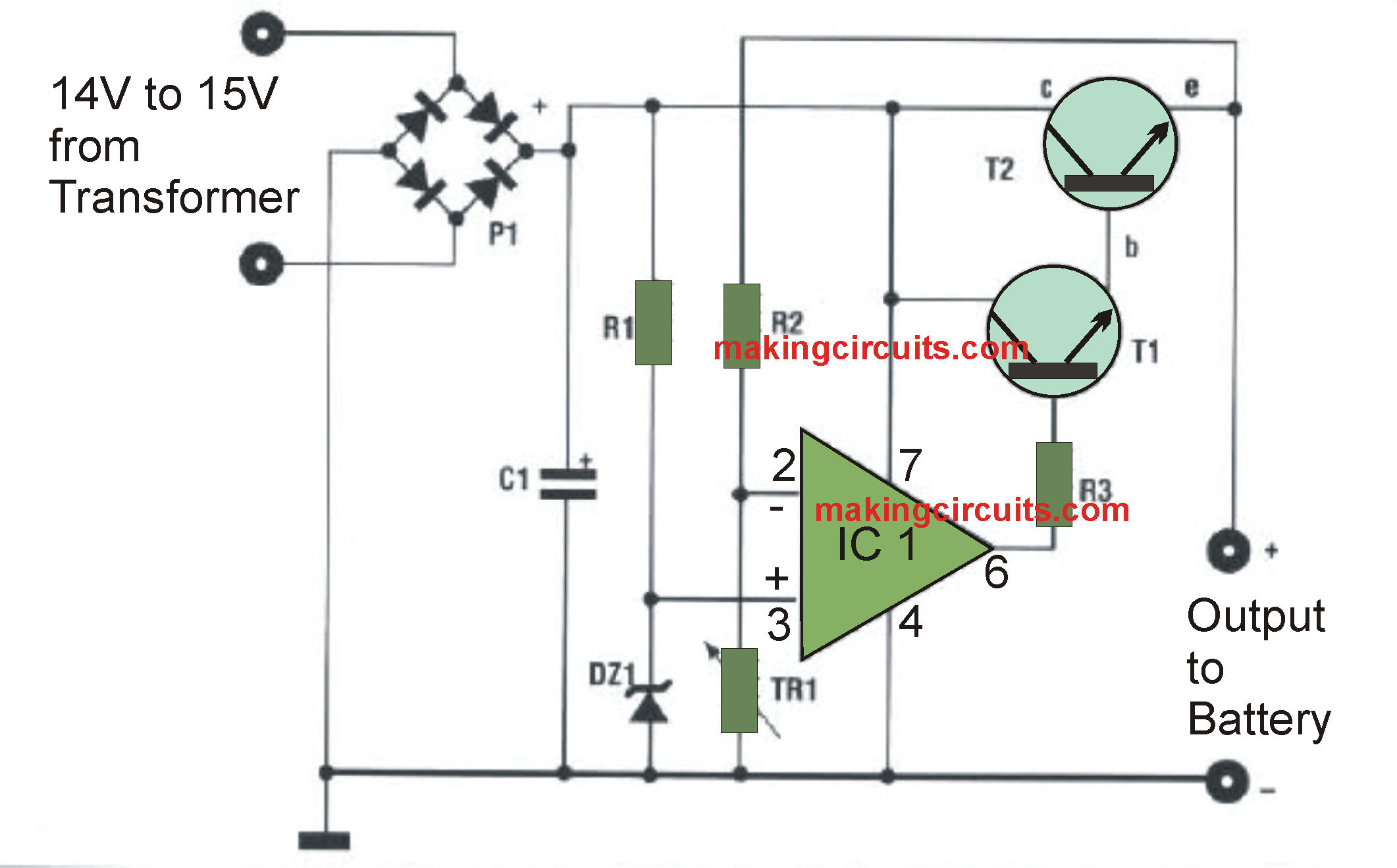 solar battery charger circuit diagram pdf