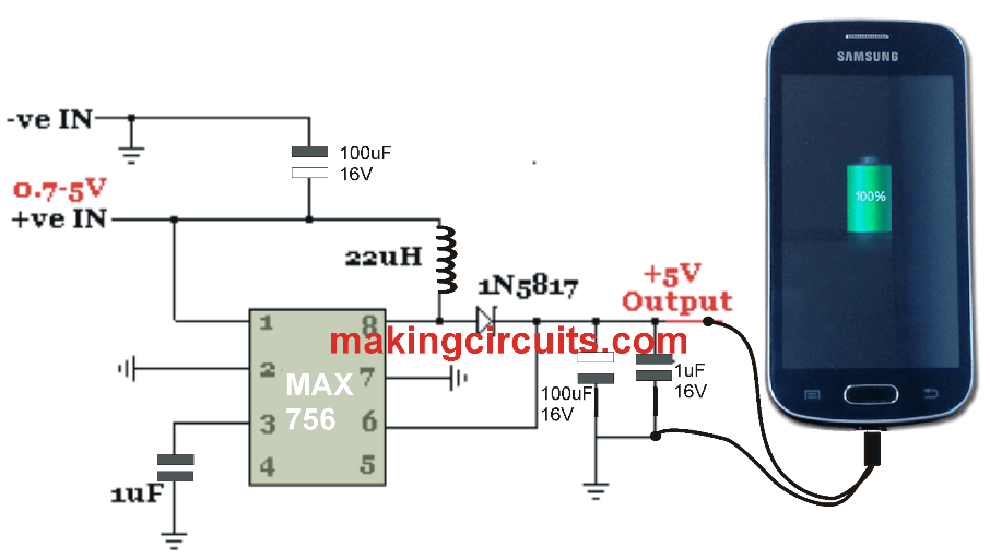 Simple Smartphone Charger Circuit