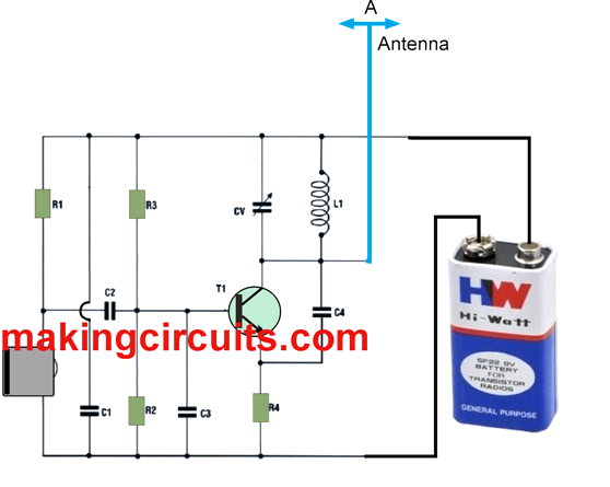small FM transmitter circuit