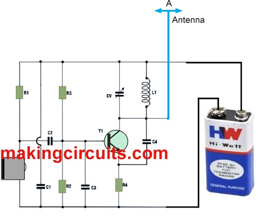 small FM transmitter circuit