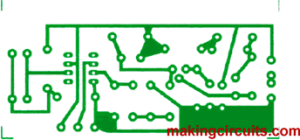 pcb layout for the metal detector circuit track side