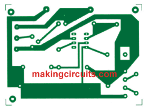 Automatic 12V Battery Charger Circuit PCB Layout track side